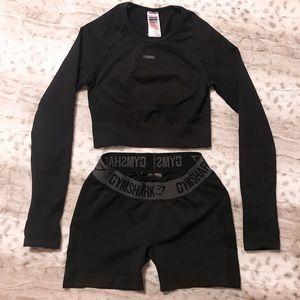Gymshark Long Sleeve Flex Top & Shorts